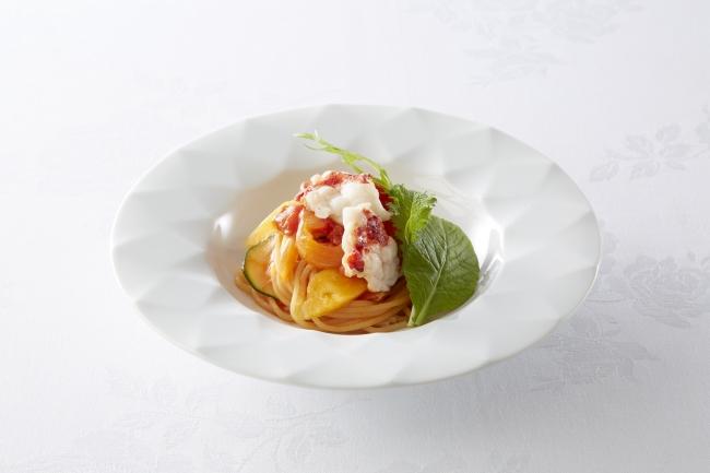 オマール海老とパパイヤのトマトスパゲッティ(3日間限定メニュー)
