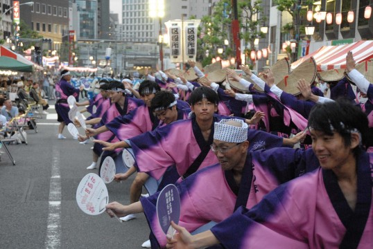The state of Awa Odori of last year (Ward office liaison)