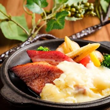 厚切りベーコンと彩り野菜