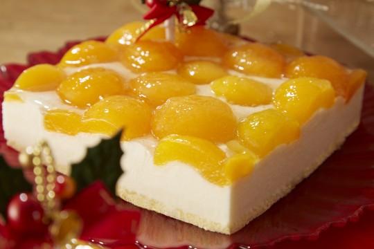 アプリコットのレアチーズケーキ