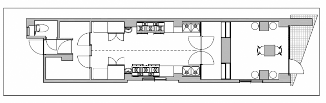 Floor plan inside the facility