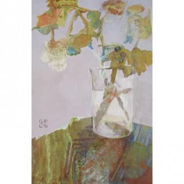 荒木 享子「On the table」 サイズ:4号P 岩絵具・膠・和紙