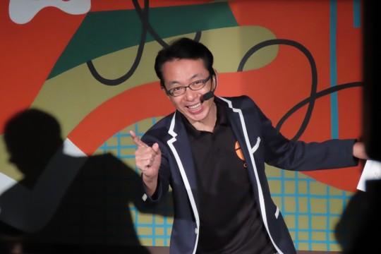 「ジャストミート!」の決め台詞とともに登場したのは、この日司会を務めた福澤朗氏