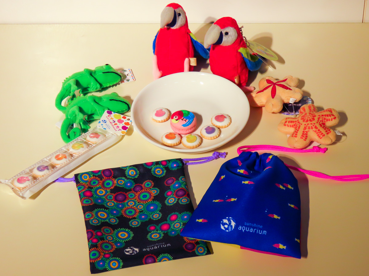 Enriched event related goods. Drawstring, cookies and macaroons are original made for this special exhibition