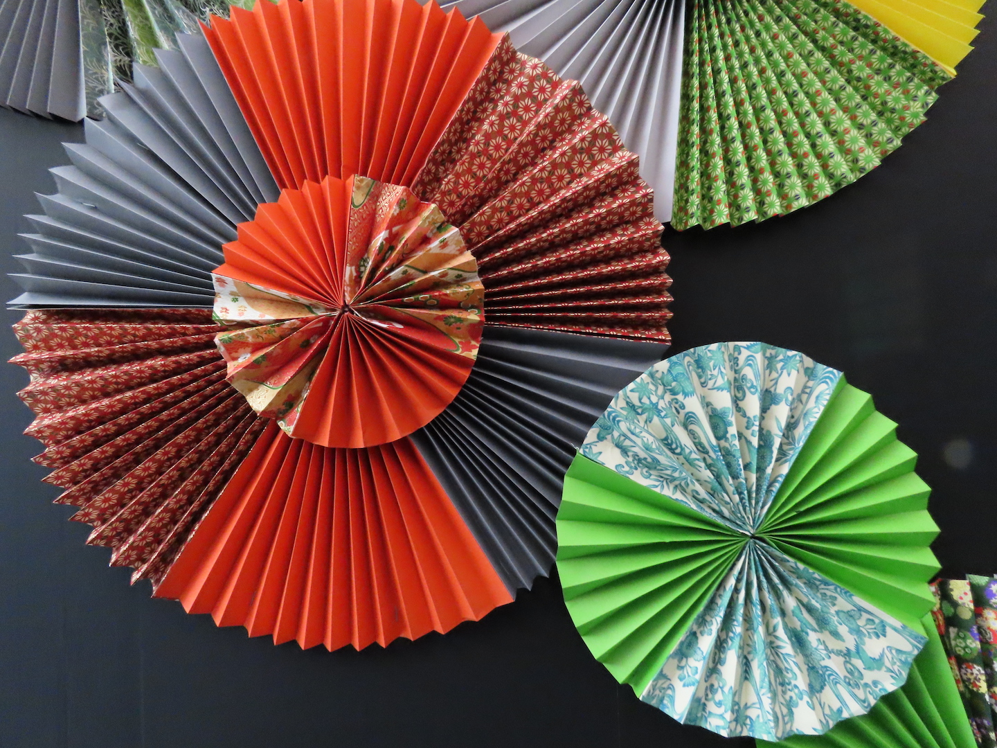Japanese-style decoration such as umbrella and fan