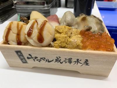 『道産5種の貝と奥尻島うに弁当』