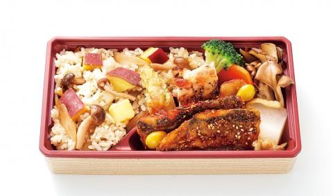 [Japanese restaurant side dish en] Sweet potato and mushroom rice seasonal lunch