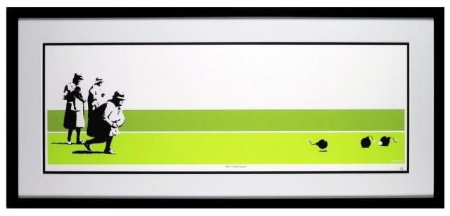 "[Banksy] ""Bomb Middle England"" (35 x 100 cm)"