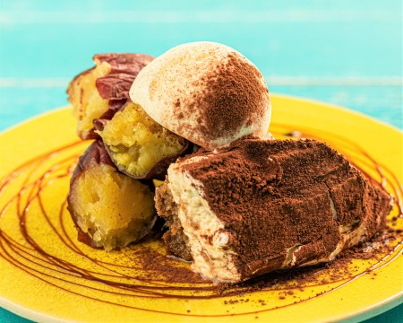 Potato tiramisu