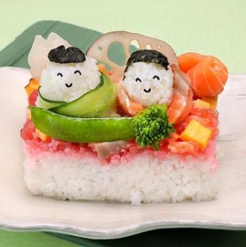 [Fish power] Hinamatsuri cake Chirashizushi