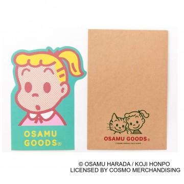 ●ダイカットパックレター(便箋:約タテ13×ヨコ 9.5㎝、封筒:約タテ15×ヨコ10㎝)495円 © OSAMU HARADA / KOJI HONPO LICENSED BY COSMO MERCHANDISING