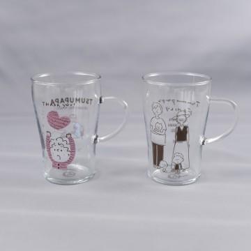 Heat-resistant glass mug (C) TSUMUPAPA Inc
