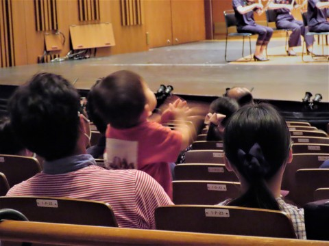 Some babies participate in clapping