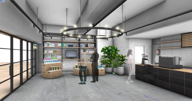 Cafe and micro library (image)